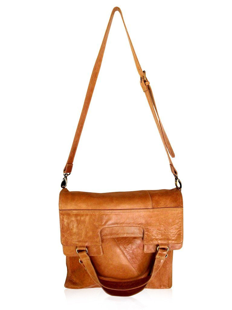 Foldable bag light brown color