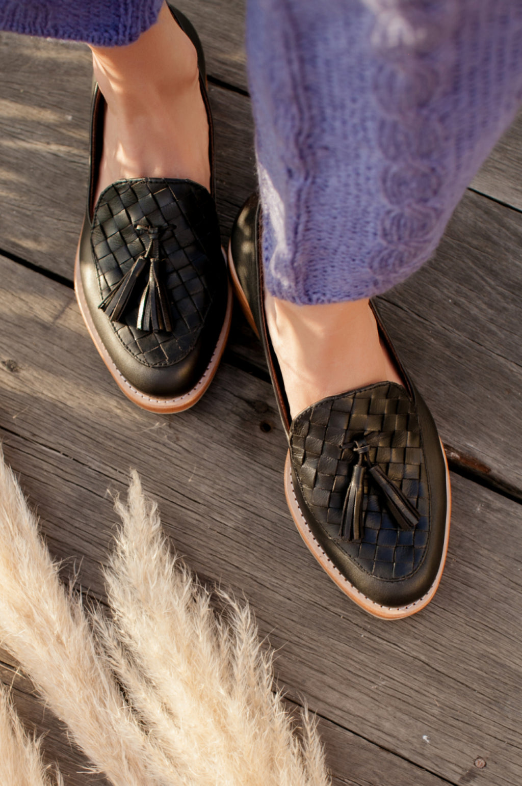 Nikita Woven Leather Loafers