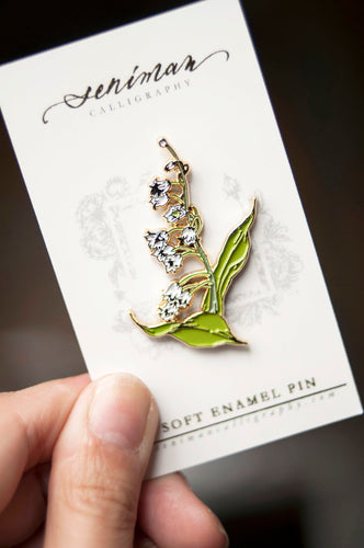 White Lily of the Valley Pin