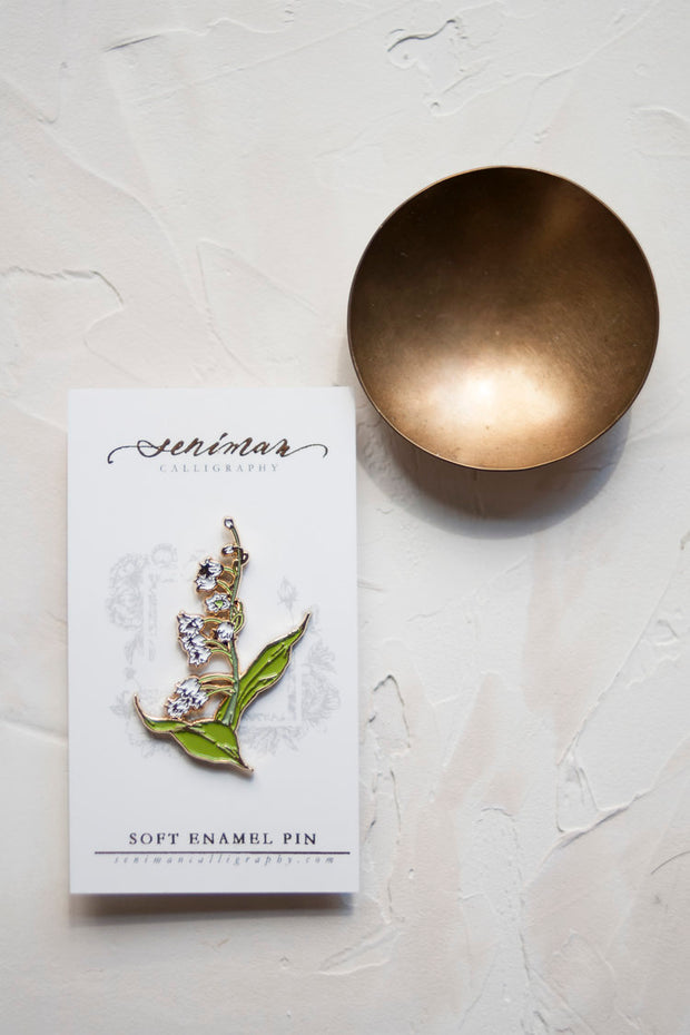 White Lily of the Valley Pin 1