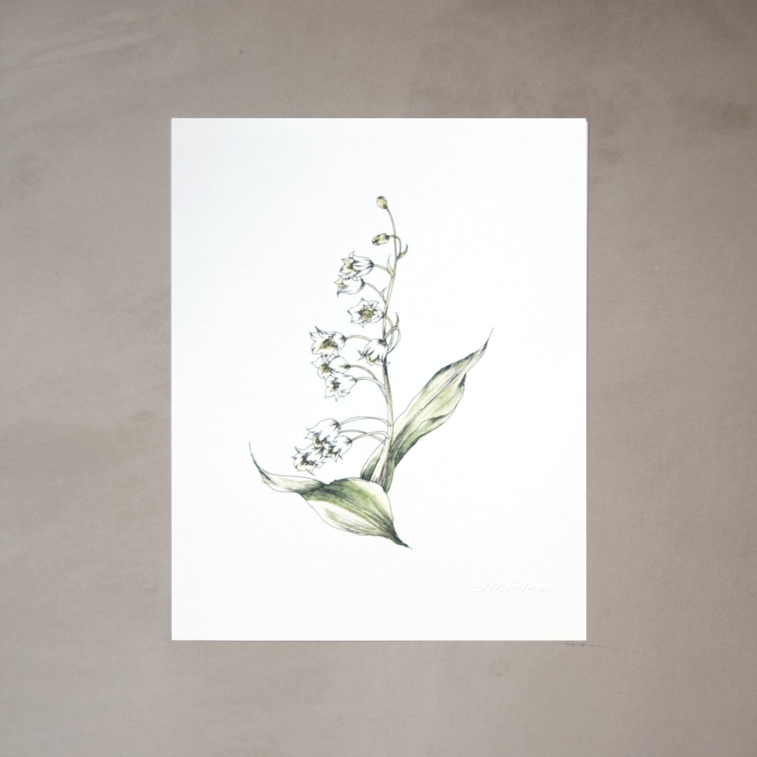 Lily of the Valley Botanical Watercolor Artprint