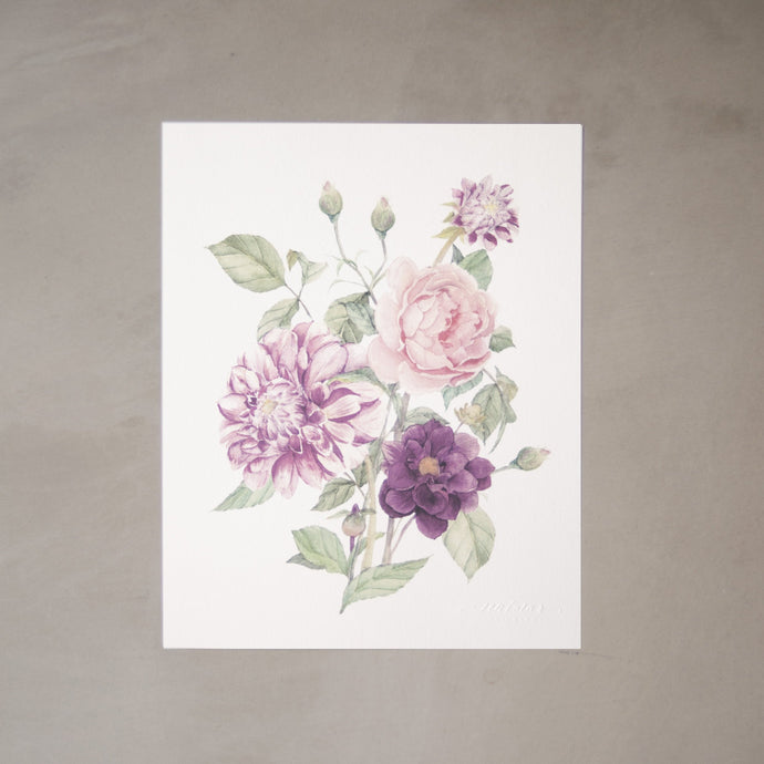 Dahlia Botanical Watercolor Artprint