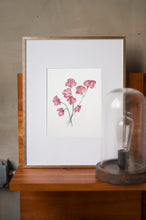 Load image into Gallery viewer, Sweetpeas Botanical Watercolor Artprint