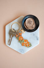 Load image into Gallery viewer, California Poppy Enamel Keychain