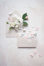 Load image into Gallery viewer, Taupe Roses Watercolor Thank You Card