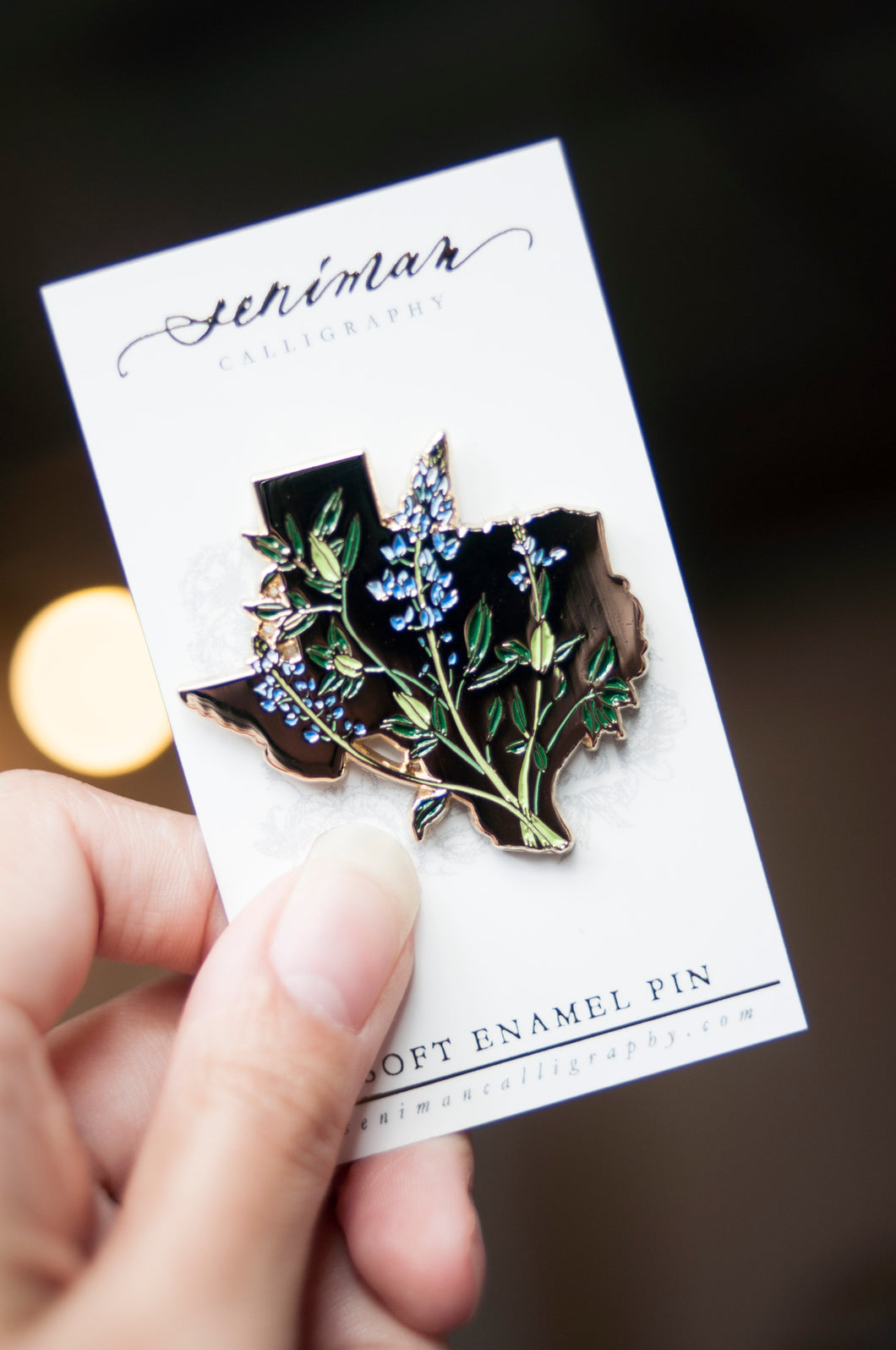 Texas Bluebonnet Enamel Pin
