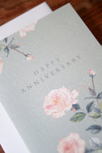 Load image into Gallery viewer, Happy Anniversary Digitally Printed Greeting Card with Rose Watercolor