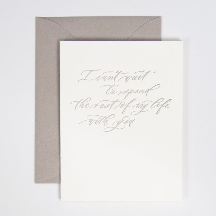 I Can't Wait Letterpress Greeting Card