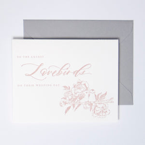 Lovebirds Letterpress Greeting Card