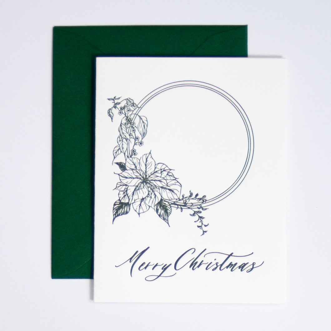 Merry Christmas Letterpress Greeting Card