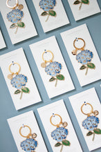 Load image into Gallery viewer, Hydrangea Enamel Keychain
