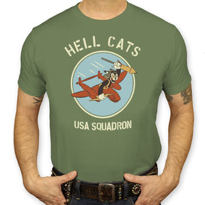 Hell Cats USA Squadron T-Shirt Men