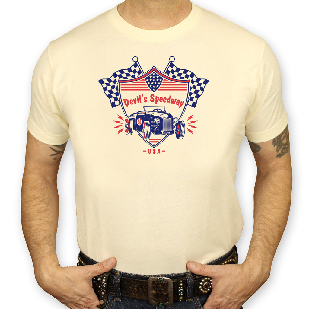 Devil's Speedway Hot Rod T-Shirt Mens