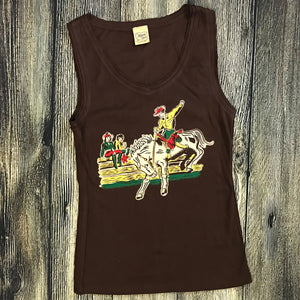 Cowboy Ladies Brown Tank Top