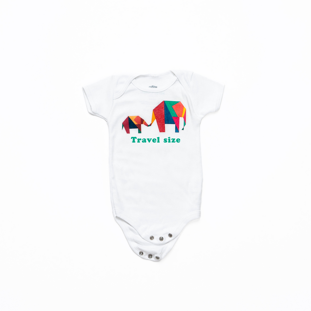 Travel Size Organic Cotton Onezie | Coconut