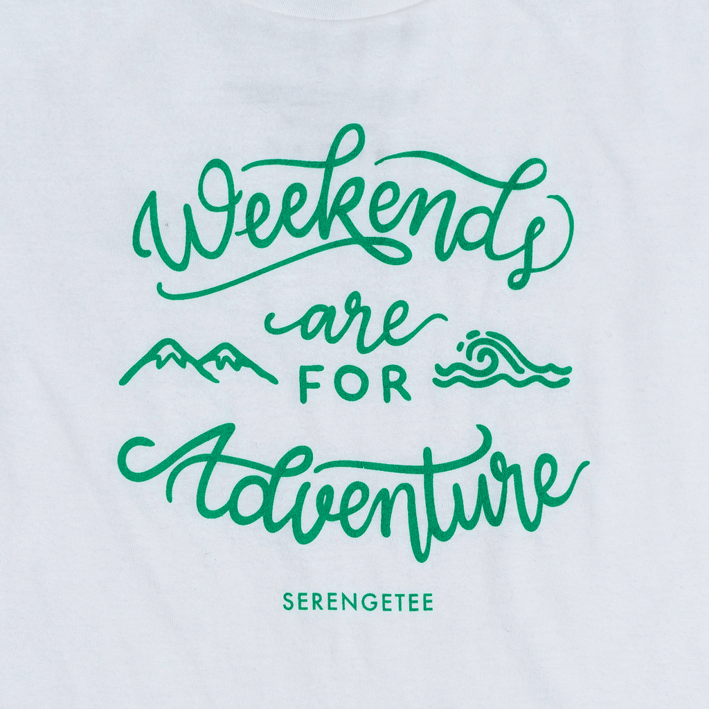 Weekends Are For Adventure (Organic Tee, Coconut)