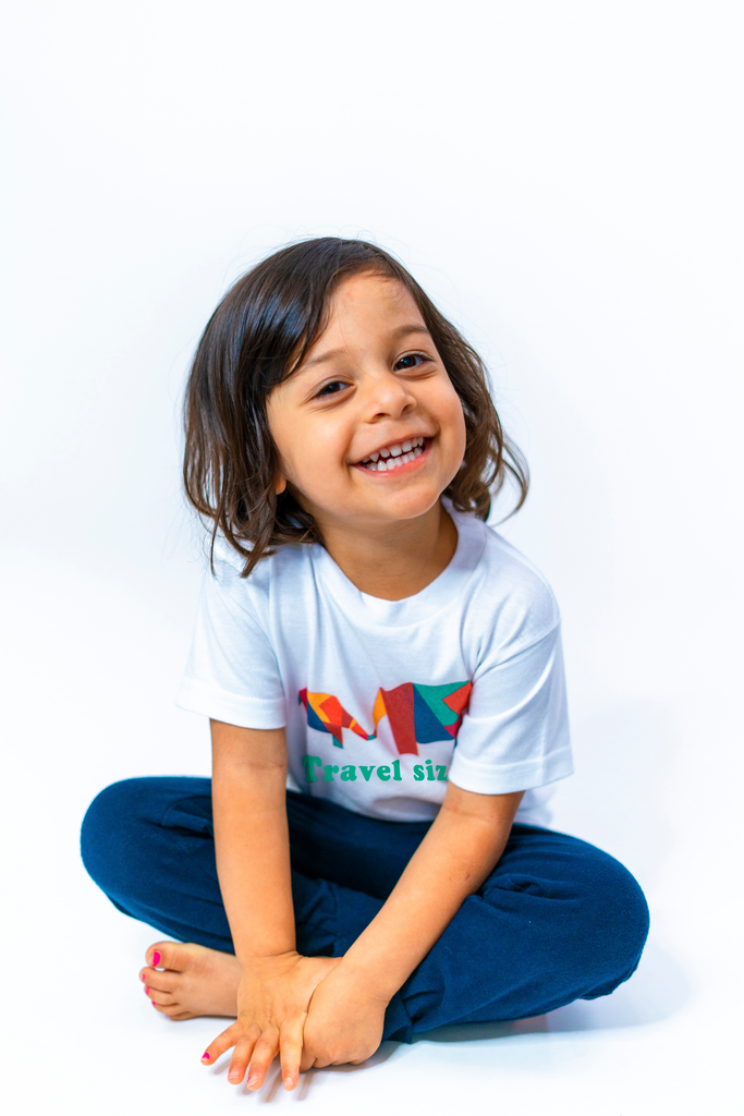 Travel Size Toddler Tee (Organic Tee, Coconut)