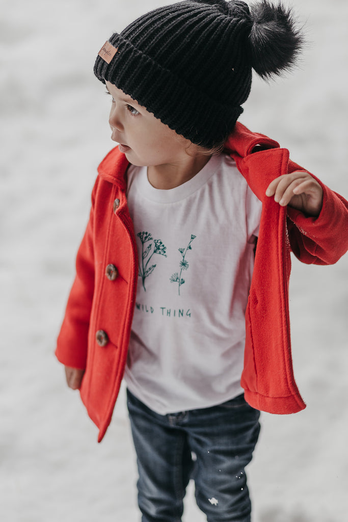Wild Thing (Organic Tee, Coconut + Forest)