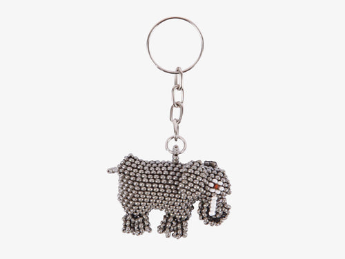 Beaded Elephant Keychain