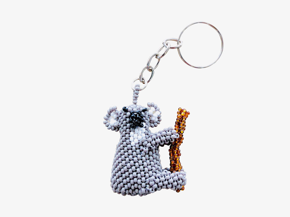 Beaded Koala Keychain