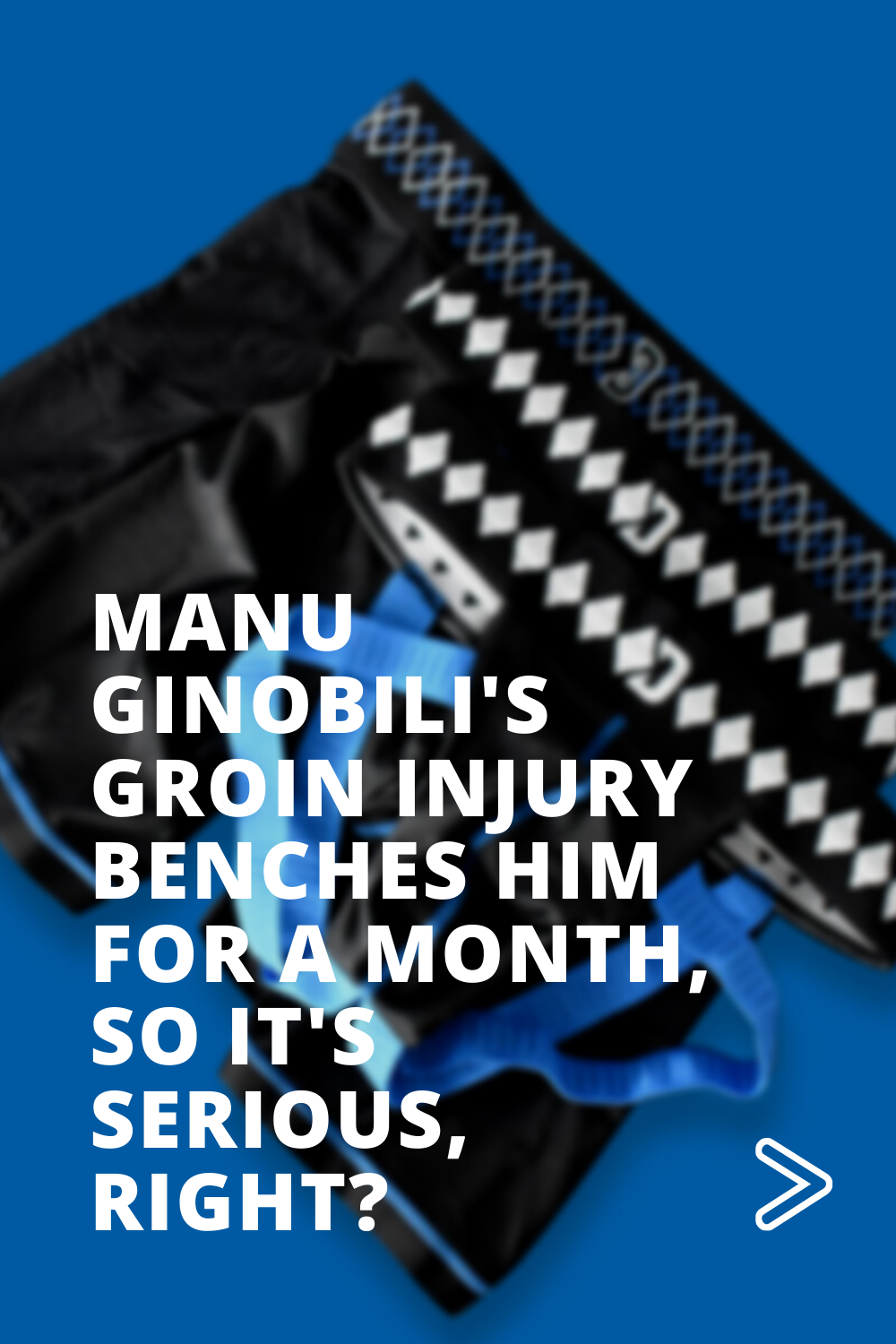 Manu Ginobili's Groin Injury Benches Him for a Month, So it's Serious, Right?