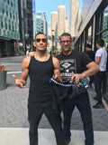 UFC fighter Tony Ferguson with his Diamond MMA products and Diamond MMA CEO Craig Diamond at UFC 238
