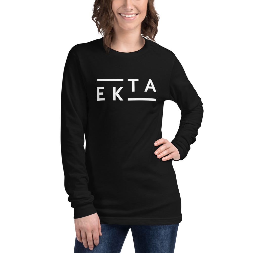 Ekta Women's Black Long Sleeve Tee