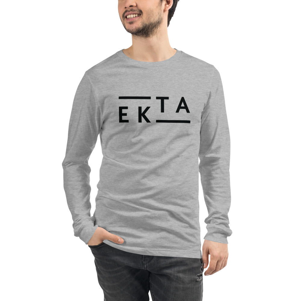 Ekta Men's Gray Long Sleeve Tee