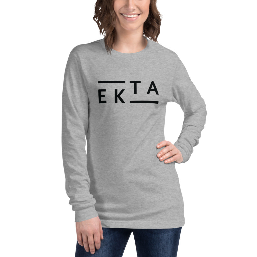 Ekta Women's Gray Long Sleeve Tee
