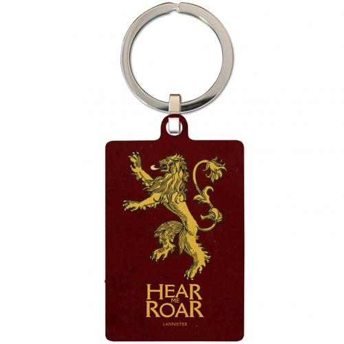 Game Of Thrones Metal Keyring Lannister