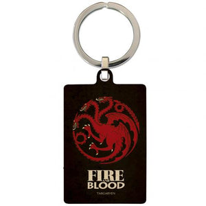 Game Of Thrones Metal Keyring Targaryen