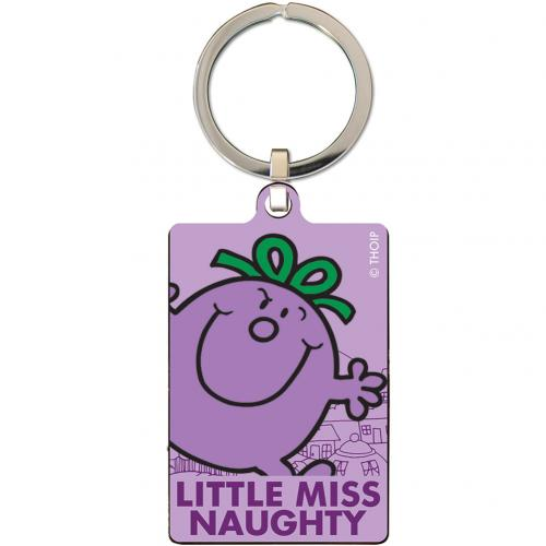 Little Miss Naughty Metal Keyring