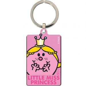 Little Miss Princess Metal Keyring