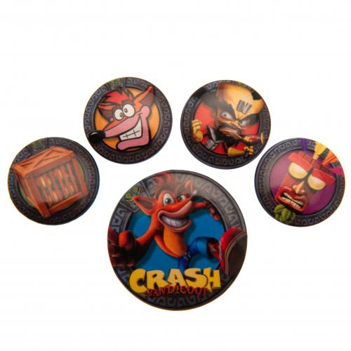 Crash Bandicoot Button Badge Set