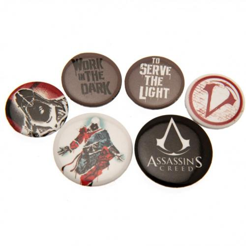 Assassins Creed Button Badge Set