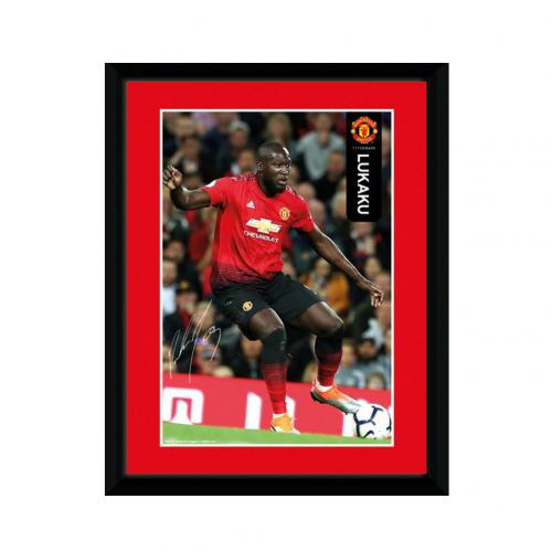 Manchester United FC Picture Lukaku 8 x 6