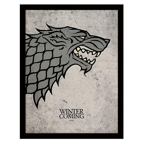 Game Of Thrones Framed Picture Stark 16 x 12