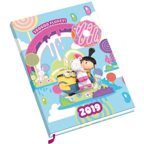 Despicable Me Fluffy A5 Diary 2019