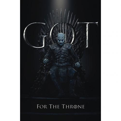Game Of Thrones Poster Night King Throne 230