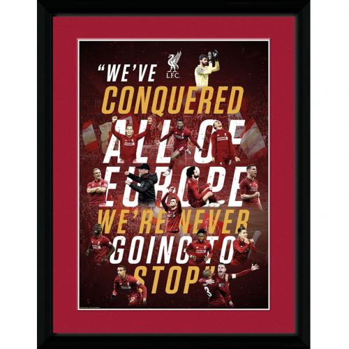 Liverpool F.C. Champions Of Europe Picture 16 x 12