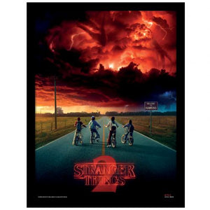Stranger Things Framed Picture 16 x 12