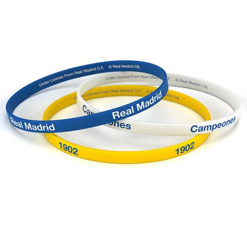 Real Madrid FC 3pk Silicone Wristbands