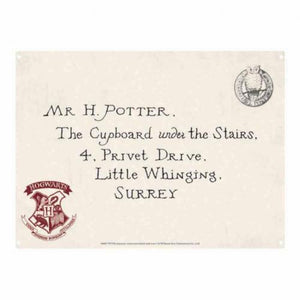 Harry Potter Metal Sign Letter
