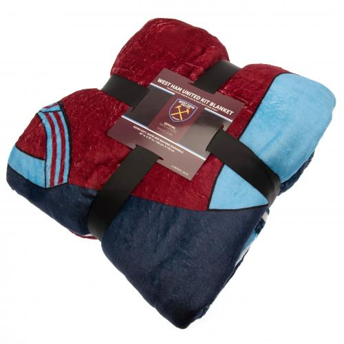 West Ham United FC Sherpa Fleece Blanket