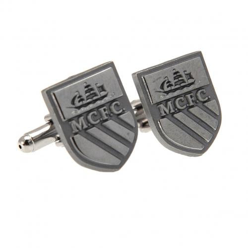 Manchester City FC Cufflinks Chrome