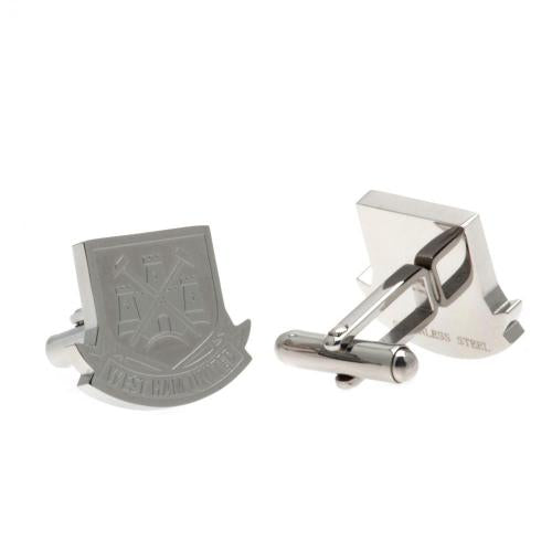 West Ham United FC Stainless Steel Formed Cufflinks CT
