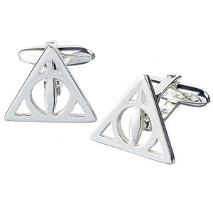 Harry Potter Silver Plated Cufflinks Deathly Hallows