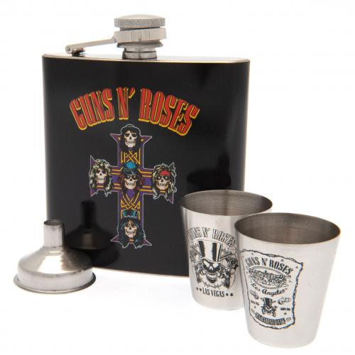 Guns N Roses Hip Flask Set