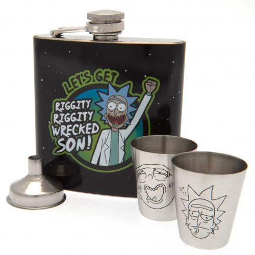 Rick And Morty Hip Flask Set
