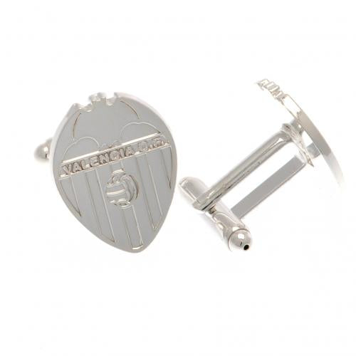 Valencia CF Silver Plated Formed Cufflinks